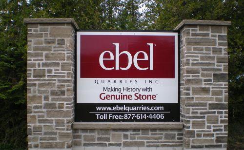 Ebel Quarries Inc Sign