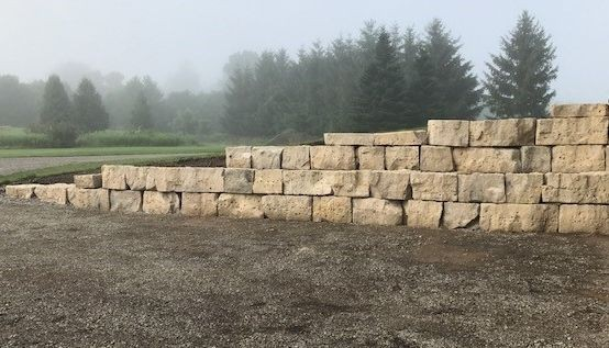 armour stone wall