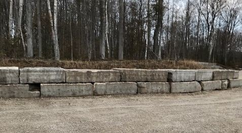 Large armour stone blocks