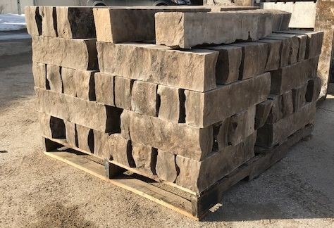 Ebel brown sawn bed wall coursing