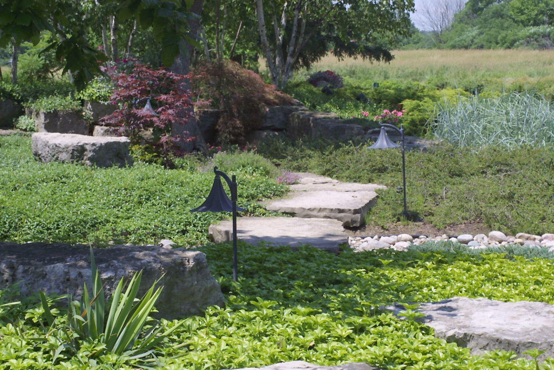 Large Random Slabs and Garden Steps